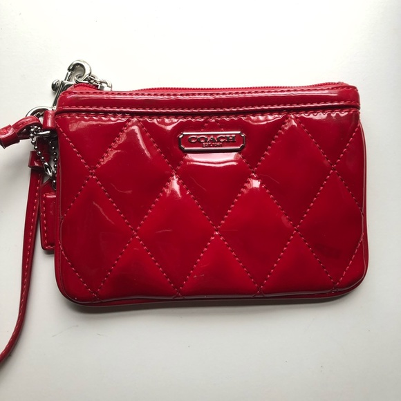 Coach Handbags - Coach Red Wristlet
